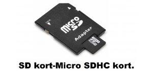 SD kort/Micro SDHC kort