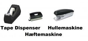 HULLEMASKINE-TAPE DISPENSER-HÆFTEMASKINE.