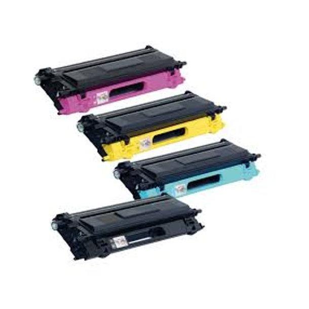 Brother Sampack med 4 styk TN135 BK-C-M-Y Kompatibel lasertoner Printer 5000/4000 sider v/5%.